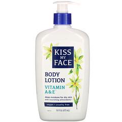 Kiss My Face, 身體乳,維生素 A 和 E,16 盎司(473 毫升)。