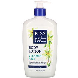 Kiss My Face, Body Lotion, Vitamin A & E, 16 fl oz (473 ml)