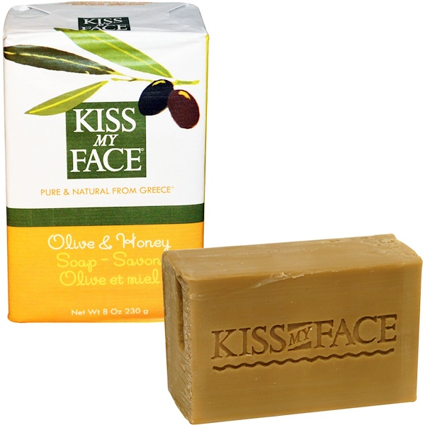 Kiss My Face, Olive & Honey Soap Bar, 8 oz (230 g) (Discontinued Item)