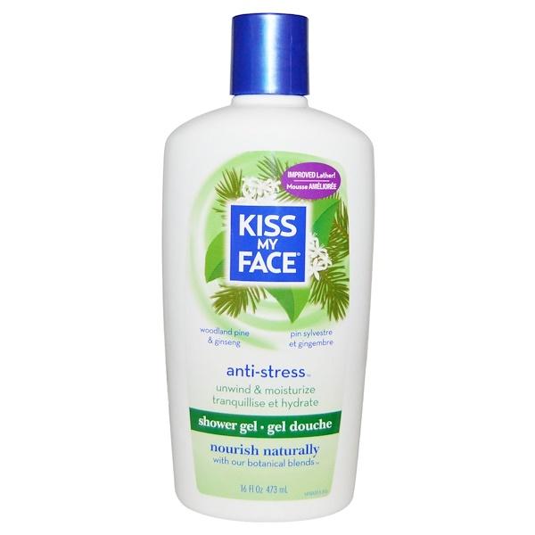 Kiss My Face, Anti-Stress Shower Gel, Woodland Pine & Ginseng, 16 fl oz (473 ml) (Discontinued Item)