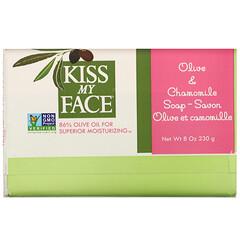 Kiss My Face, 橄欖和洋甘菊肥皂,8 盎司(230 克)。