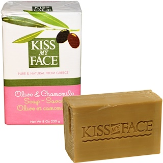Kiss My Face, Olive & Chamomile Soap Bar, 8 oz (230 g)