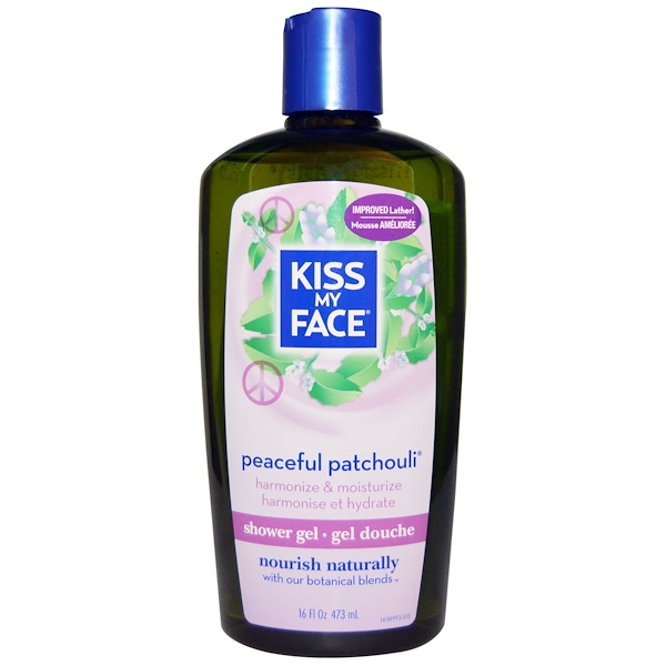 Kiss My Face, Shower Gel, Peaceful Patchouli, 16 fl oz (473 ml) (Discontinued Item)