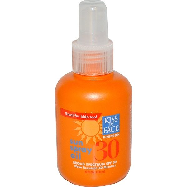 Kiss My Face, Sun Spray Oil, SPF 30, Sunscreen, 4 fl oz (118 ml) (Discontinued Item)
