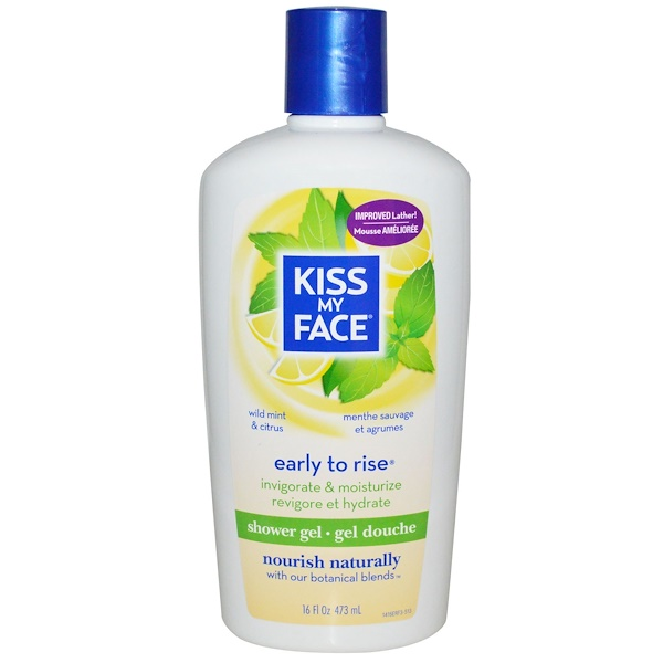 Kiss My Face, Early to Rise, Shower Gel, Wild Mint & Citrus, 16 fl oz (473 ml) (Discontinued Item)