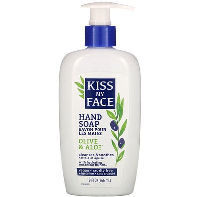 Kiss My Face Hand Soap, Olive & Aloe, 9 fl oz (266 ml)