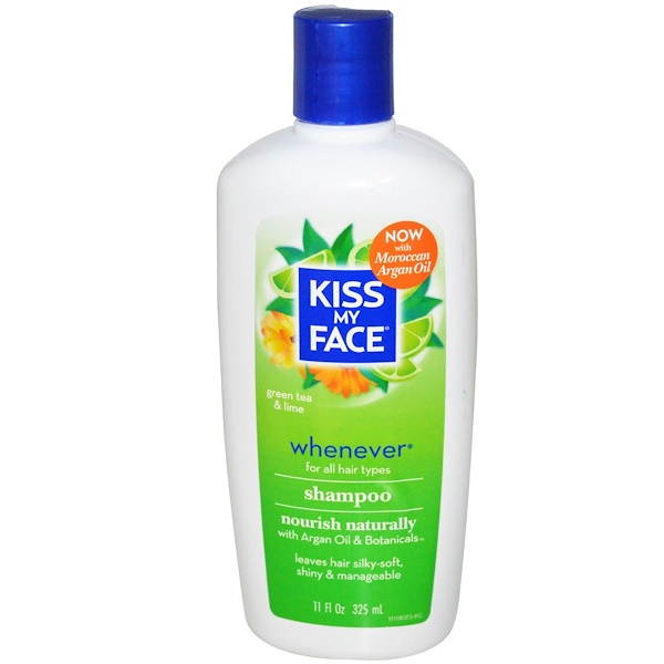 Kiss My Face, Whenever, Shampoo, All Hair Types,  Green Tea & Lime, 11 fl oz (325 ml) (Discontinued Item)