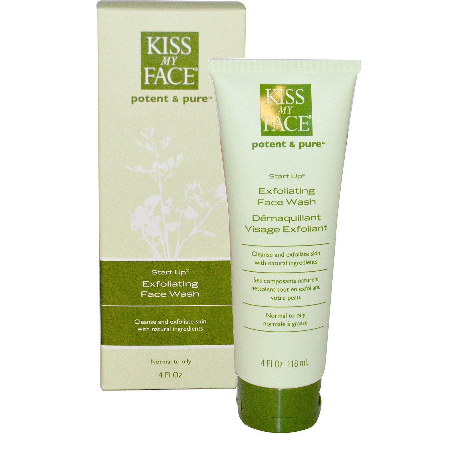 Kiss My Face Potent And Pure Start Up Exfoliating Face Wash - 4 Oz Kigelia & Licorice After-Sun Facial Wash
