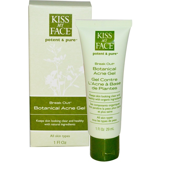 Kiss My Face, Break Out, Botanical Acne Gel, 1 fl oz (29 ml) (Discontinued Item)