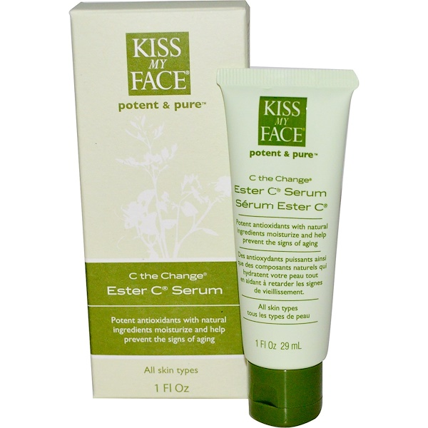 Kiss My Face, C The Change, Ester C Serum, 1 fl oz (29 ml)