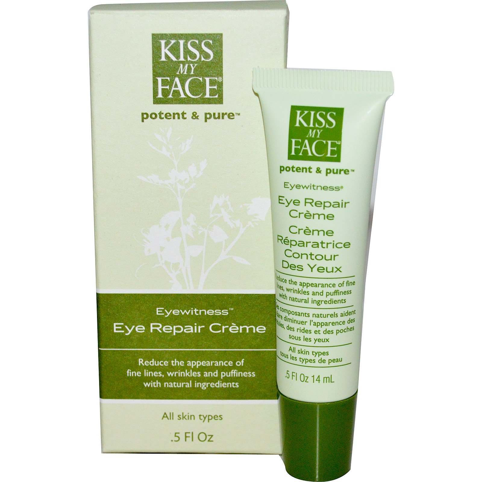Kiss My Face, Восстанавливающий крем для кожи вокруг глаз, .5 жидких унций (14 мл)