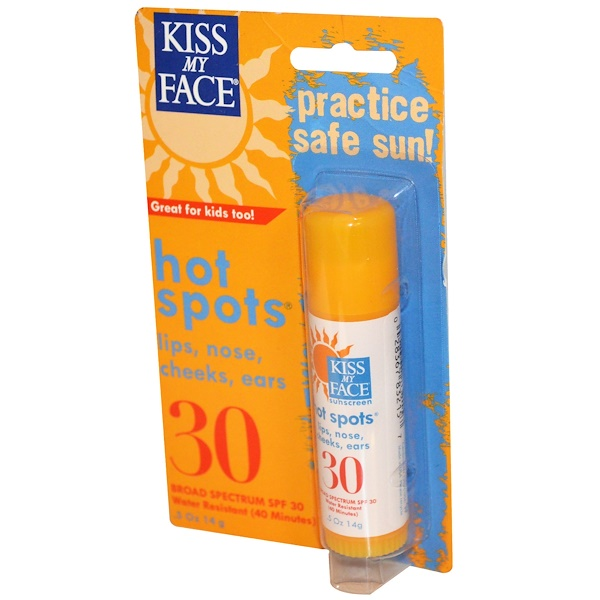 Kiss My Face, Hot Spots, SPF 30, .5 oz (14 g) (Discontinued Item)