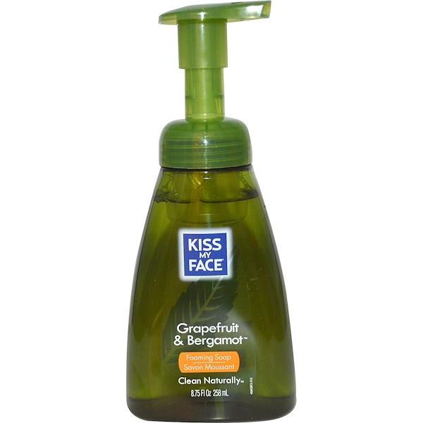 Kiss My Face,  Foaming Soap, Grapefruit & Bergamot, 8.75 fl oz (258 ml) (Discontinued Item)