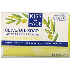 Kiss My Face, 橄欖油皂,橄欖和綠茶,8 盎司(230 克)。
