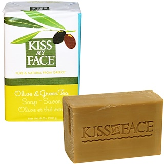 Kiss My Face, Olive & Green Tea Soap Bar, 8 oz (230 g)