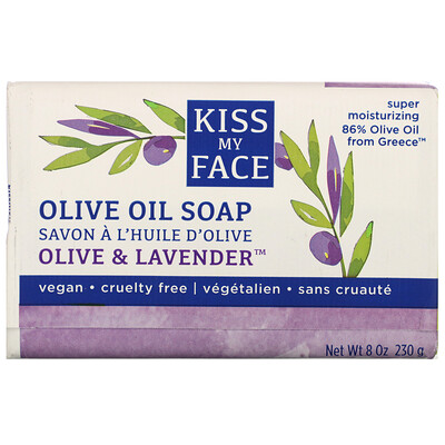 Купить Kiss My Face Olive Oil Soap, Olive & Lavender, 8 oz (230 g)