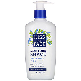 Kiss My Face, 4 in 1 Moisture Shave, Fragrance Free, 11 fl oz (325 ml)