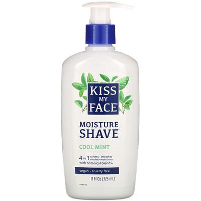 Купить Kiss My Face Увлажняющее средство для бритья, с охлаждающей мятой, 11 жидких унций (325 мл)