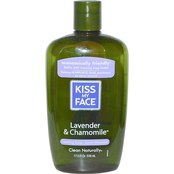 Kiss My Face, 포밍 비누, 라벤더 & 카모마일, 17.5 액량 온스 (516 ml) (Discontinued Item)