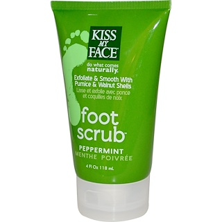 Kiss My Face, Foot Scrub, Peppermint, 4 fl oz (118 ml)