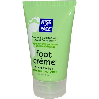 Kiss My Face, Foot Creme, Peppermint, 4 fl oz (118 ml)