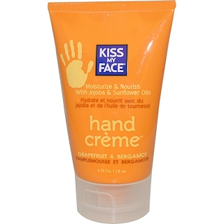 Kiss My Face, Hand Crème, Grapefruit & Bergamot, 4 fl oz (118 ml)