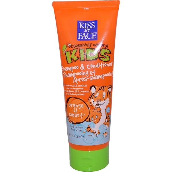 Kiss My Face, Obsessively Natural Kids, Shampoo & Conditioner, Orange U Smart, 8 fl oz (236 ml) (Discontinued Item)