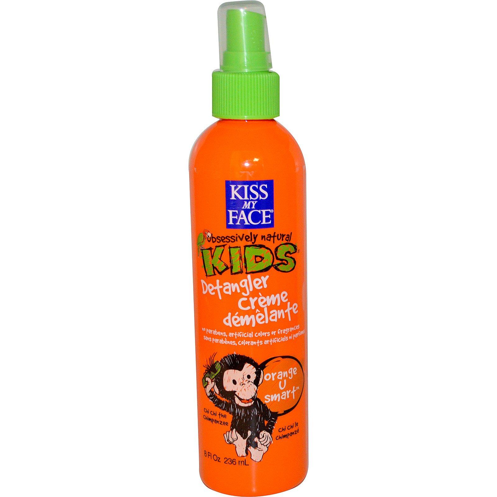 Kiss My Face, Детский кондиционер Obsessively Natural Kids от спутывания волос, аромат апельсина, 236 мл