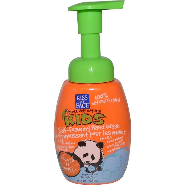 Kiss My Face, Obsessively Natural Kids, Self-Foaming Hand Wash, Orange U Smart, 8 fl oz (236 ml)