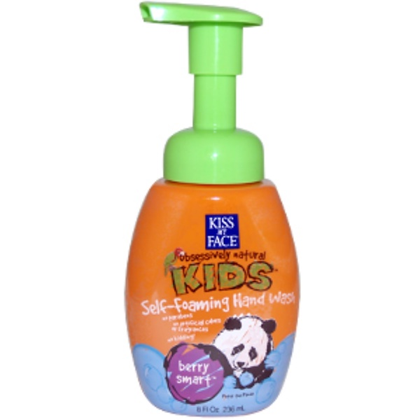 Kiss My Face, KL, Obsessively Natural Kids, Self Foaming Hand Wash, Berry Smart, 8 fl oz (236 ml) (Discontinued Item)