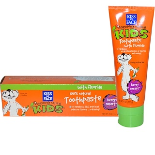 Kiss My Face, Obsessively Natural Kids, Toothpaste with Fluoride, Berry Smart, 4 oz (113 g)