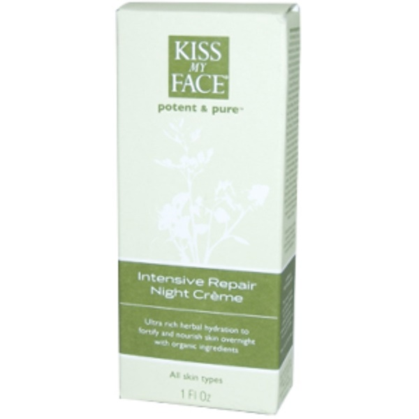 Kiss My Face, Intensive Repair Night Creme, 1 fl oz (29 ml) (Discontinued Item)