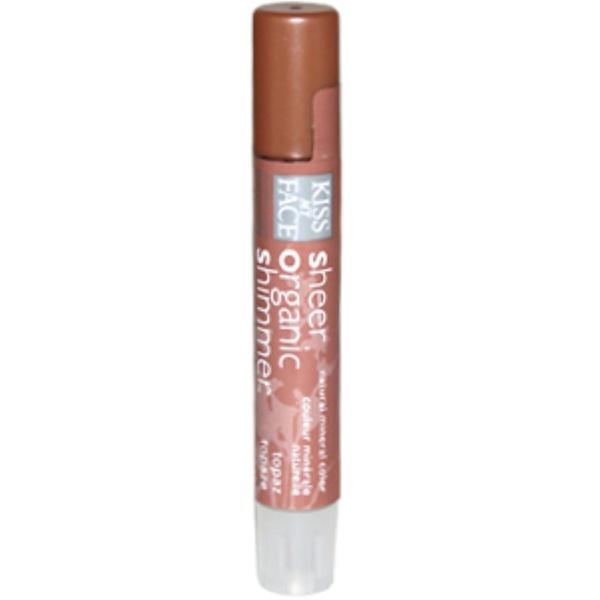 Kiss My Face, Sheer Organic Shimmer, Topaz, .08 oz (2.4 g) (Discontinued Item)