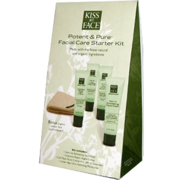 Kiss My Face, Potent & Pure Facial Care Starter Kit, 4 Products (Discontinued Item)