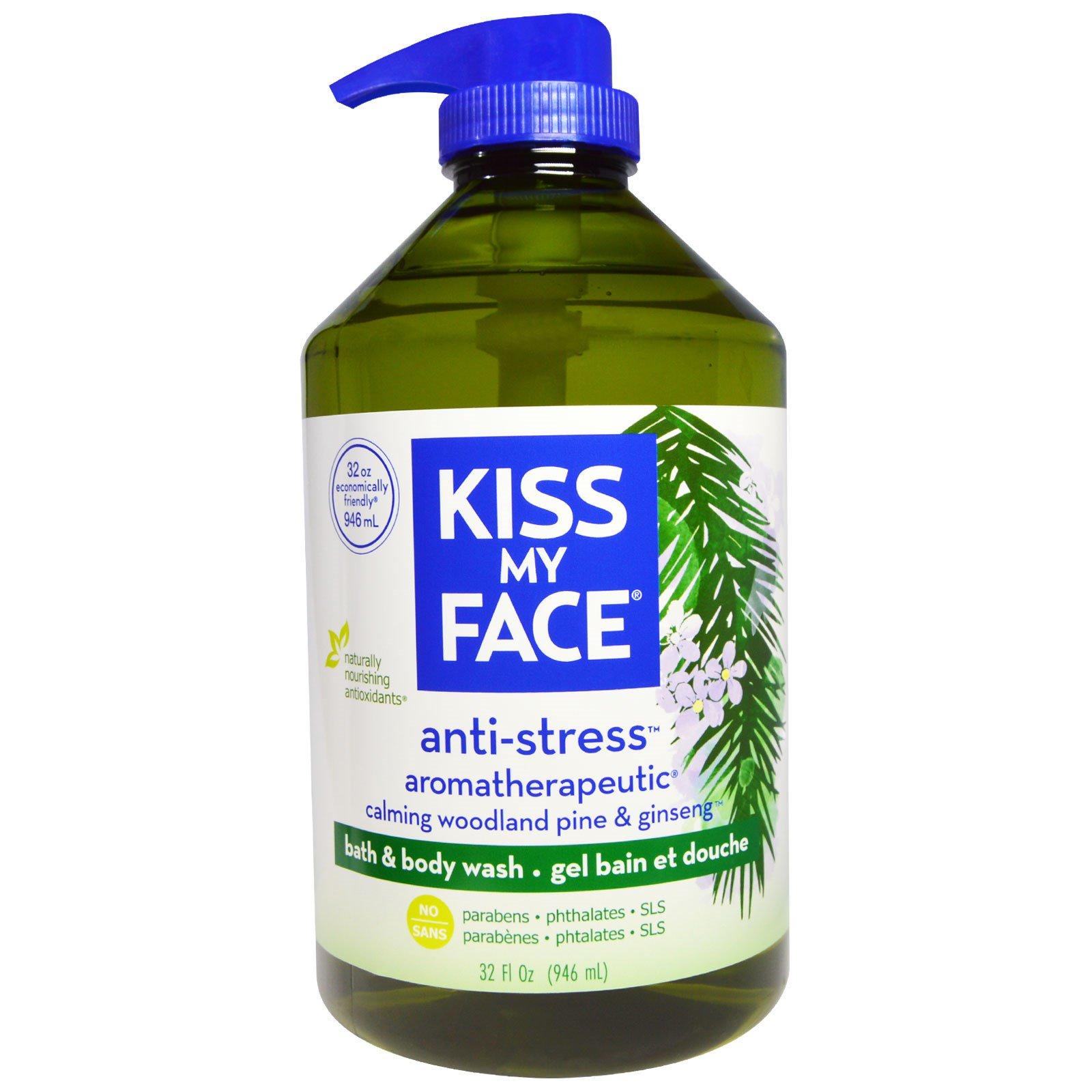 """Kiss My Face, Антистрессовое средство для ванны и душа """"Успокаивающая сосна и женьшень"""", 946 мл"""