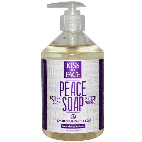 Kiss My Face, Peace Soap, Lavender Mandarin, 17 fl oz (502 ml) (Discontinued Item)