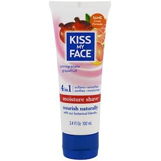 Kiss My Face, 수분 면도, 석류 자몽, 3.4 액량 온스 (100ml)