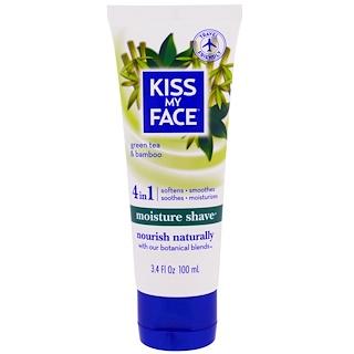 Kiss My Face, Moisture Shave, Green Tea & Bamboo, 3.4 fl oz (100 ml)