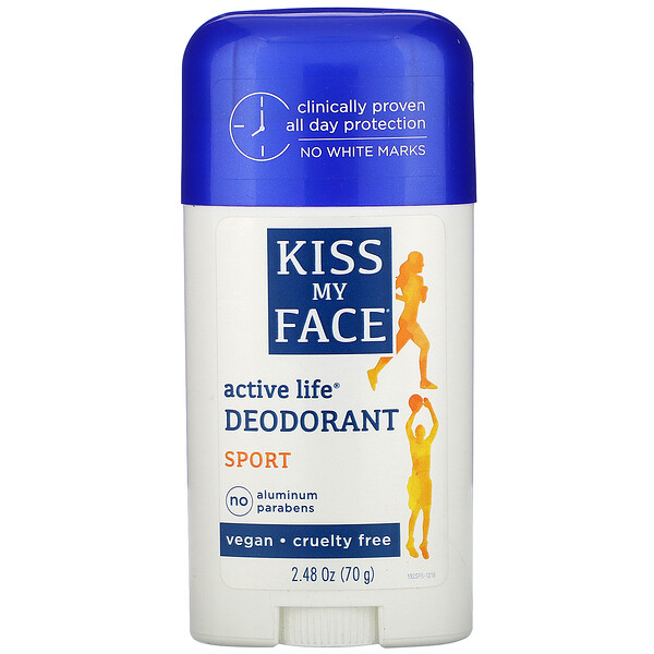 Kiss My Face, Active Life Deodorant, Sport, 2.48 oz (70 g)