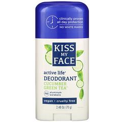 Kiss My Face, Active Life 香體露,黃瓜綠茶,2.48 盎司(70 克)