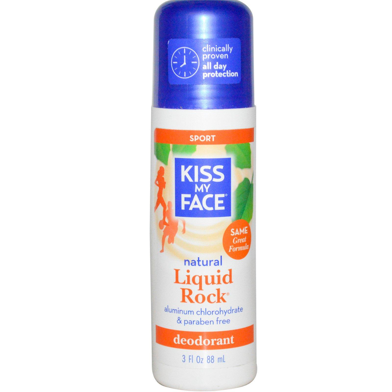 Kiss My Face, Натуральный дезодорант Liquid Rock, для спорта, 3 жидких унции (88 мл)