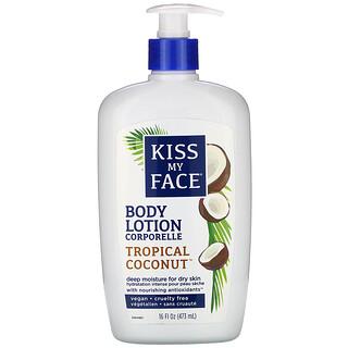 Kiss My Face, Body Lotion, Vegan, Tropical Coconut, 16 fl oz (473 ml)