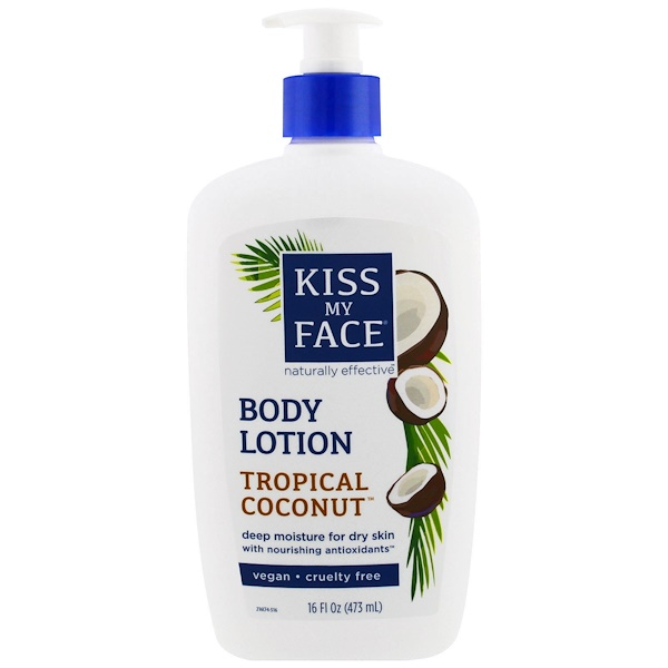 Kiss My Face, Body Lotion, Vegan, Tropical Coconut, 16 fl oz (473 ml)