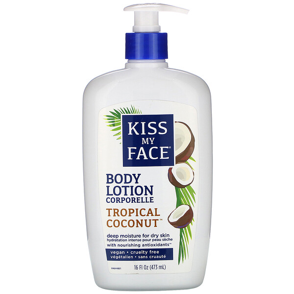Body Lotion, Vegan, Tropical Coconut, 16 fl oz (473 ml)