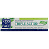 Kiss My Face, Triple Action Toothpaste with Tea Tree Oil, Xylitol & Aloe, Fluoride Free, Cool Mint Gel, 4.5 oz (127.6 g)
