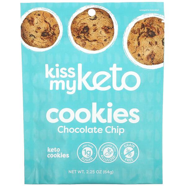 Kiss My Keto, Keto Cookies, Chocolate Chip, 2.25 oz (64 g)