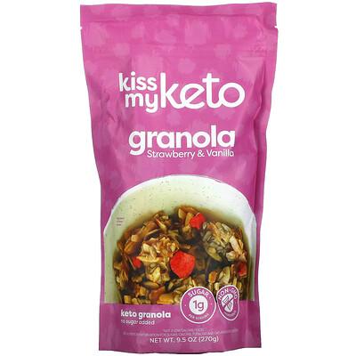 Kiss My Keto Keto Granola, Strawberry & Vanilla, 9.5 oz (270 g)