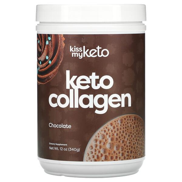 Kiss My Keto, Keto Collagen, Chocolate, 12 oz (340 g)