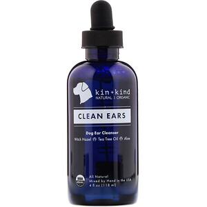 Kin+Kind, Clean Ears, Dog Ear Cleanser, 4 fl oz (118 ml)