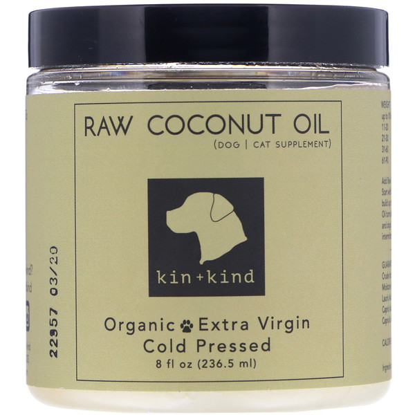 Kin+Kind, Raw Coconut Oil, Skin & Coat, 8 fl oz (236.5 ml)